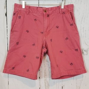Izod saltwater W34 salmon w/ crabs shorts